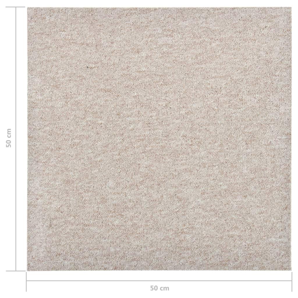 Plăci de pardoseală, 20 buc., bej deschis, 50 x 50 cm, 5 m²