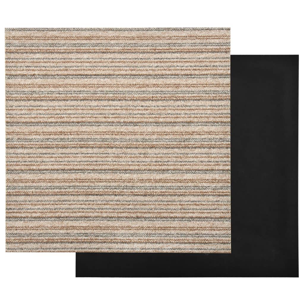 Plăci de pardoseală, 20 buc., bej cu dungi, 50 x 50 cm, 5 m²