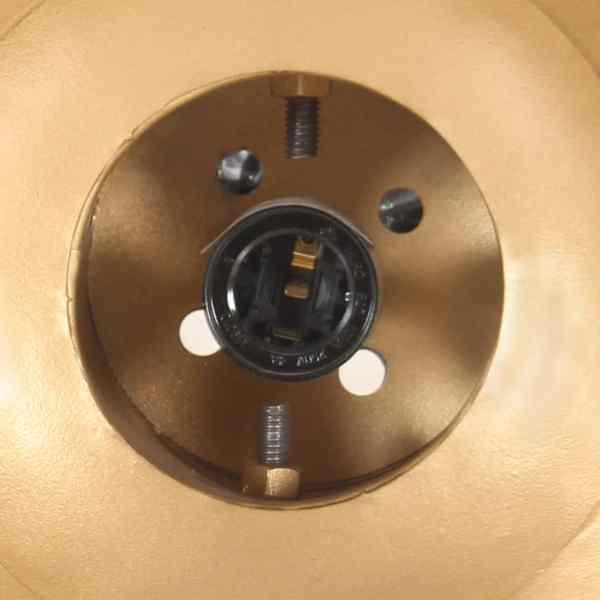 vidaXL Lampă suspendată industrială, fier/ lemn masiv mango arămiu E27