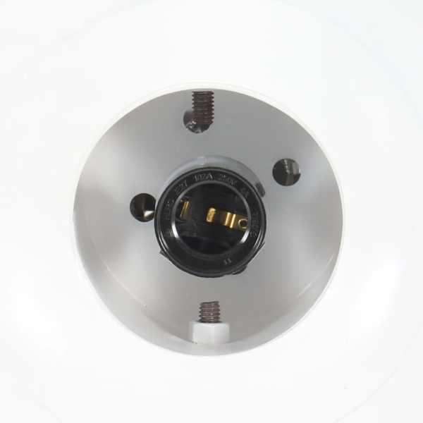 vidaXL Lampă suspendată industrială, fier/ lemn masiv mango, alb E27