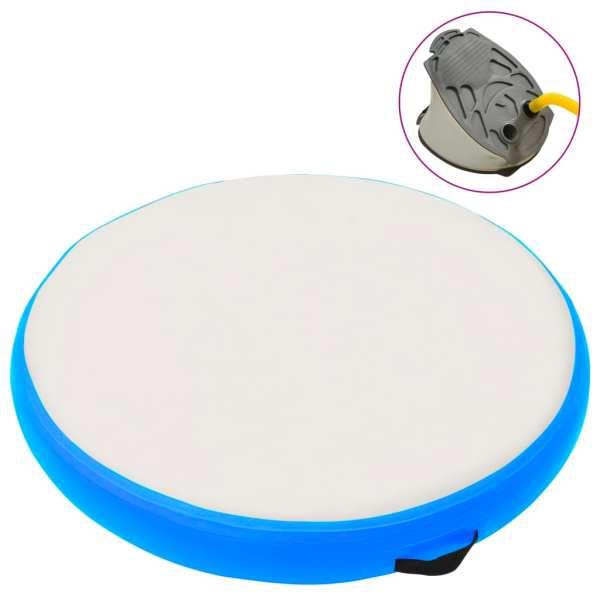 vidaXL Saltea gimnastică gonflabilă cu pompă albastru 100x100x20cm PVC