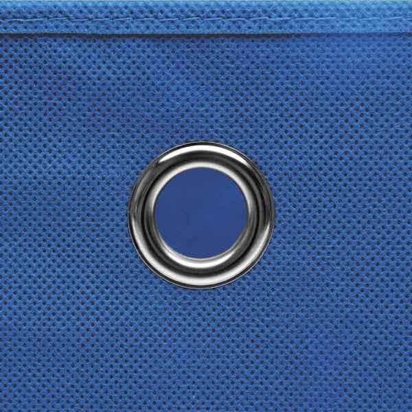 Cutii depozitare cu capac, 4 buc., albastru, 28x28x28 cm