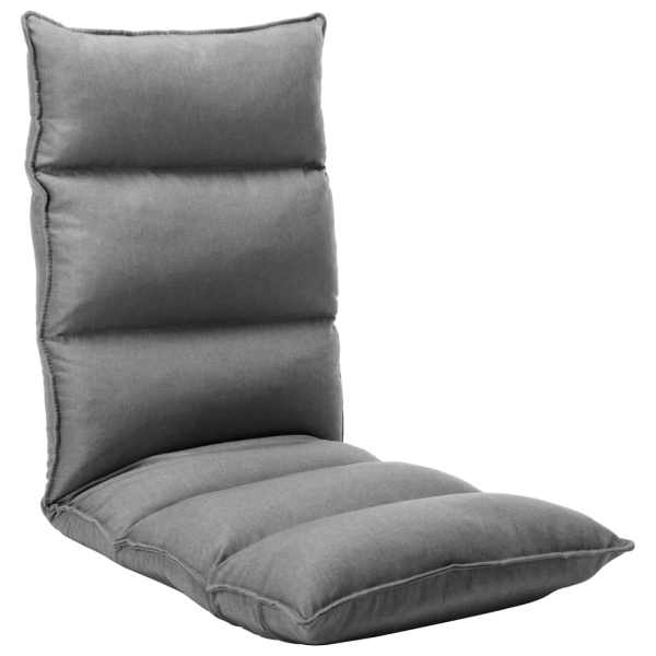 vidaXL Scaun de podea pliabil, gri deschis, material textil