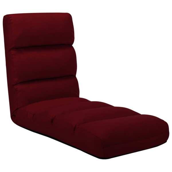 vidaXL Scaun de podea pliabil, roșu vin, piele ecologică