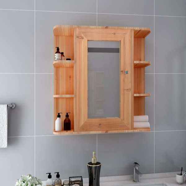 vidaXL Dulap de baie cu oglindă, stejar, 66 x 17 x 63 cm, MDF