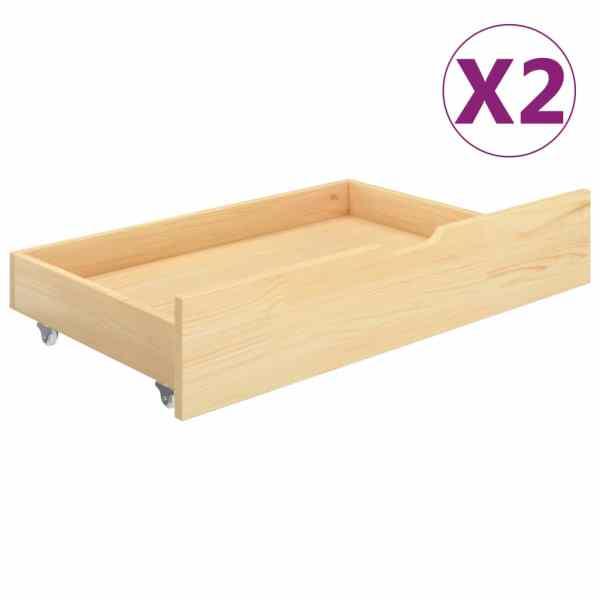 vidaXL Sertare pentru pat, 2 buc., lemn masiv de pin
