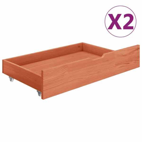 vidaXL Sertare pentru pat, 2 buc., maro miere, lemn masiv de pin
