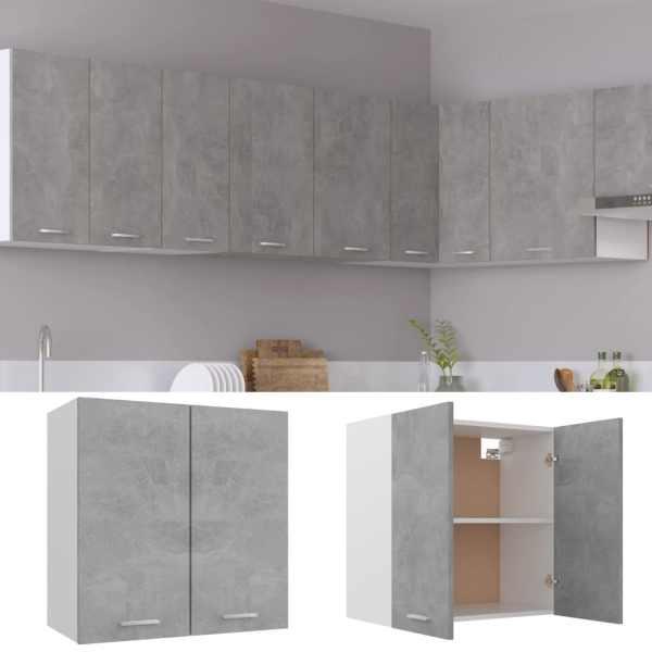 Dulap de bucătărie, gri beton, 60 x 31 x 60 cm, PAL