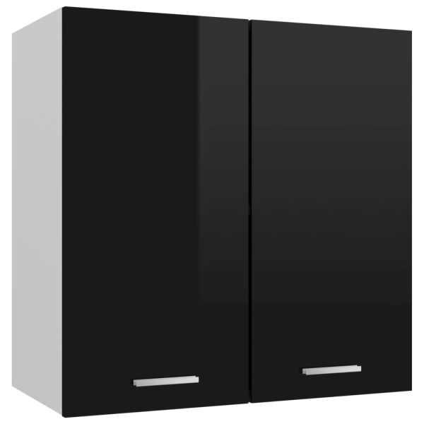 vidaXL Dulap suspendat, negru extralucios, 60 x 31 x 60 cm, PAL