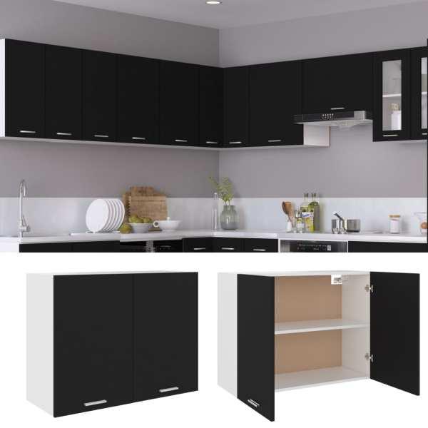 Dulap de bucătărie, negru, 80 x 31 x 60 cm, PAL