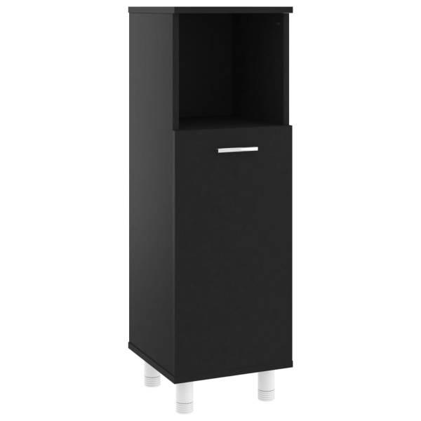vidaXL Dulap de baie, negru, 30 x 30 x 95 cm, PAL