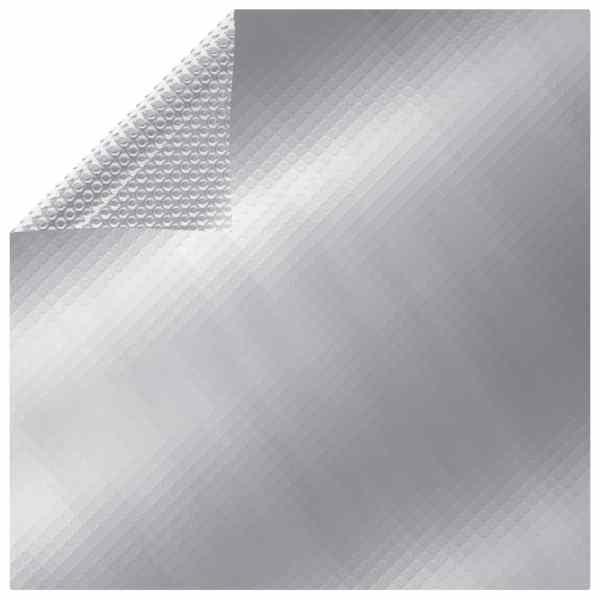 vidaXL Folie solară plutitoare piscină dreptunghiular argintiu 8x5m PE