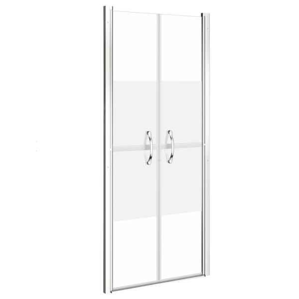 Ușă cabină de duș, jumătate mat, 86 x 190 cm, ESG