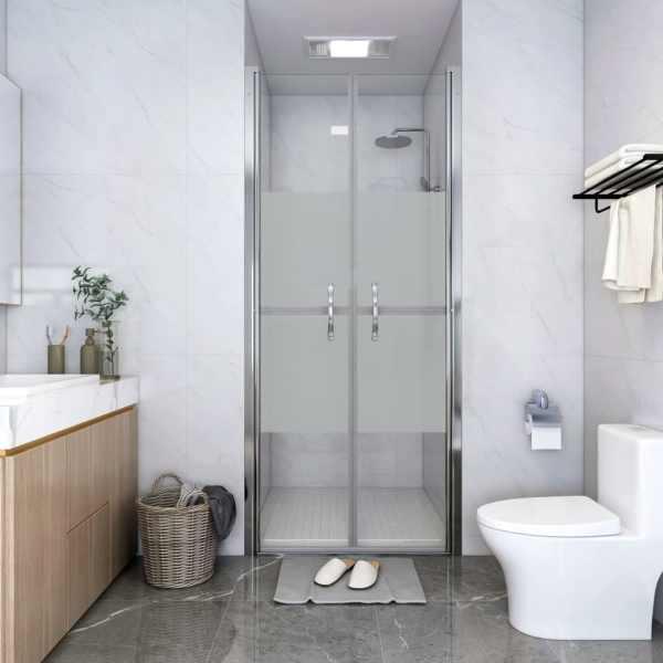 vidaXL Ușă cabină de duș, jumătate mat, 91 x 190 cm, ESG