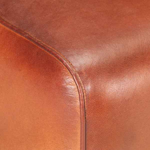vidaXL Banchetă, maro, 38 cm, piele naturală