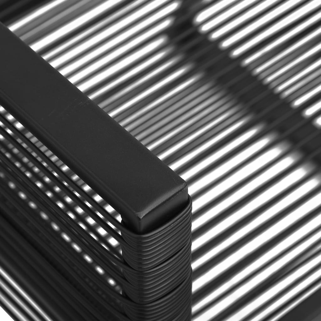 Set mobilier de exterior, 5 piese, negru, ratan PVC