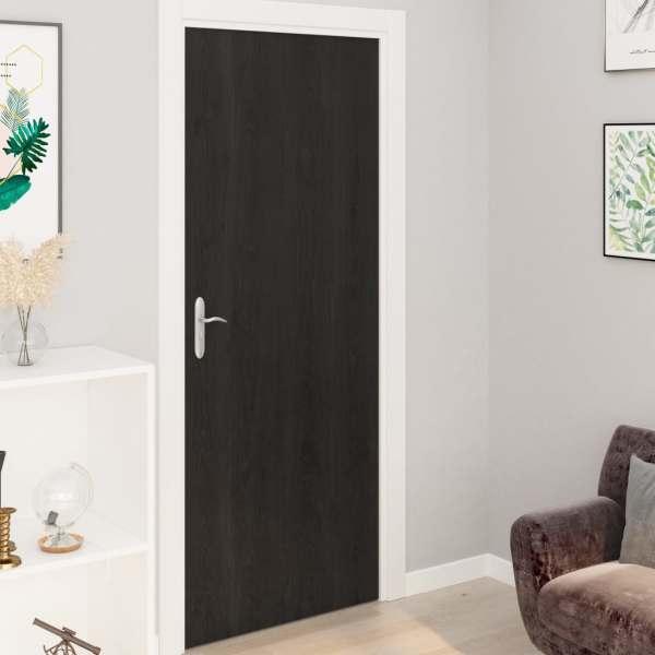 vidaXL Folii de ușă autoadezive, 4 buc., lemn închis, 210 x 90 cm, PVC