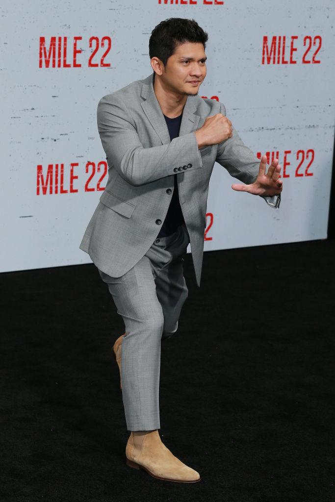 Iko Uwais asiste al estreno de STX Films''Milla 22 'en Westwood Village Theatre el 9 de agosto de 2018 en Westwood, California.  (Foto de Leon Bennett / Getty Images)