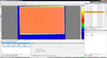 Vue et traitement des mesures au moyen du logiciel Photometrica de Westboro Photonics Ecran caméra