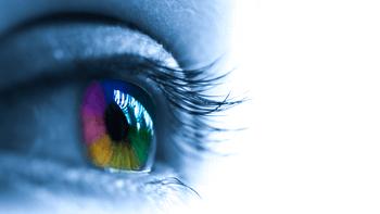 Lumière bleue oeil