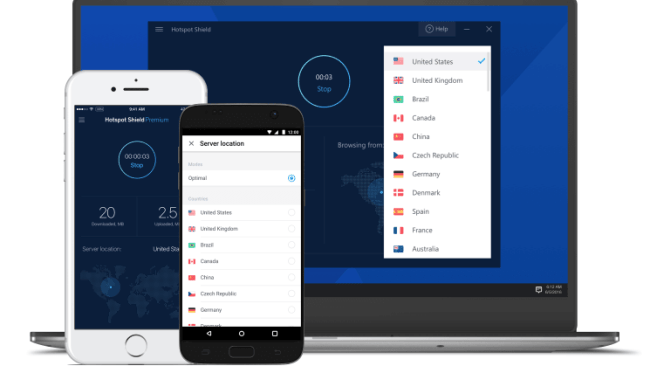 Hotspot Shield - Top VPN services 2019