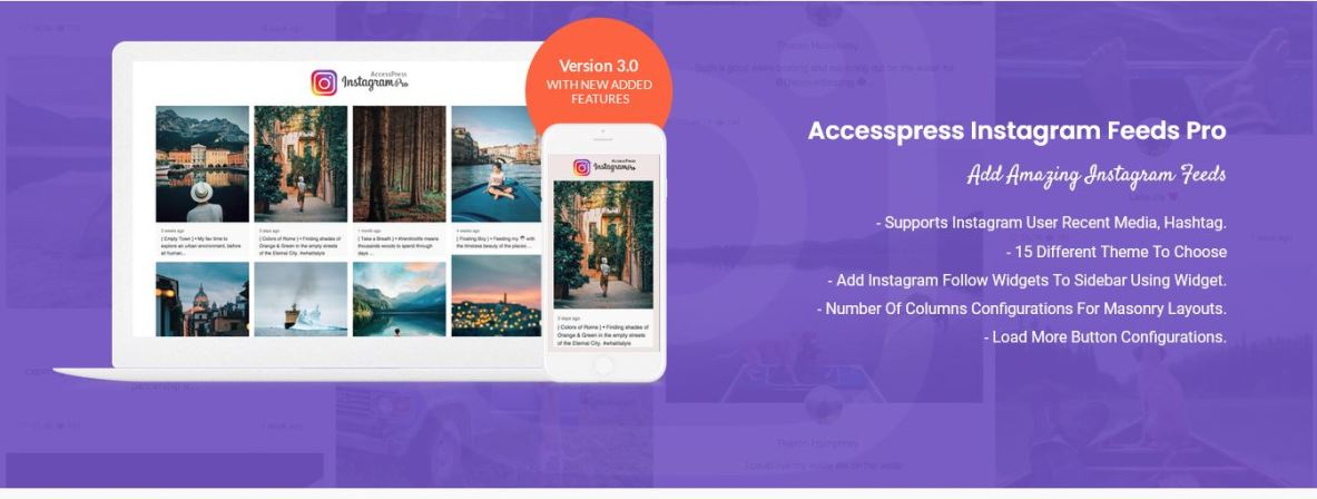 Accesspress pro - best of the best Instagram plugins