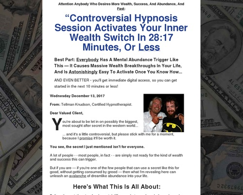 The Wealth Switch: Earn 75% On This Irresistible Wealth Booster!
