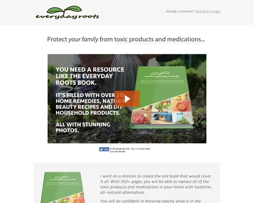 Everyday Roots: Highest Converting Natural Health Offer On CB