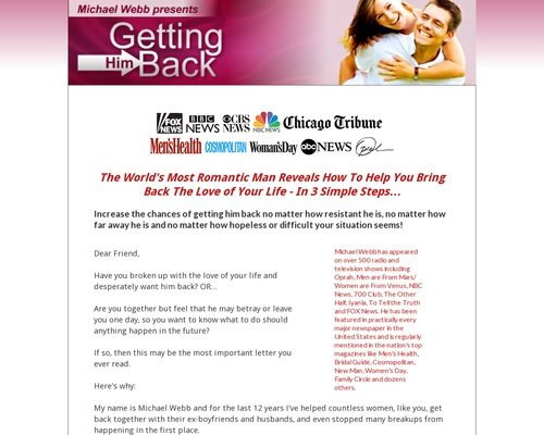 Getting Him Back – Oprah Expert Reveals How To Get Your Ex Back