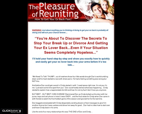 The Pleasure Of Reuniting (get Your Ex Back