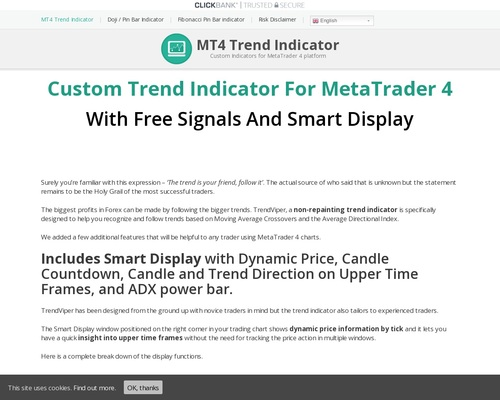 Custom Mt4 Indicators With Signals For Forex – 50% Commission