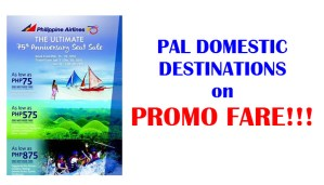 PAL PROMO FARE DOMESTIC DESTINATIONS