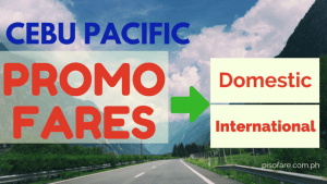 Cebu Pacific promos 2018 domestic and international