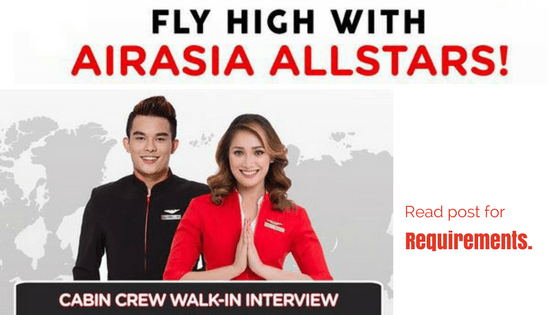 cabin crew jobs hiring air asia