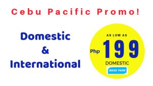 Cebu Pacific Piso Fare 2018