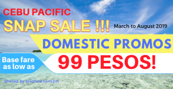 cebu pacific snap sale 99 pesos march to august