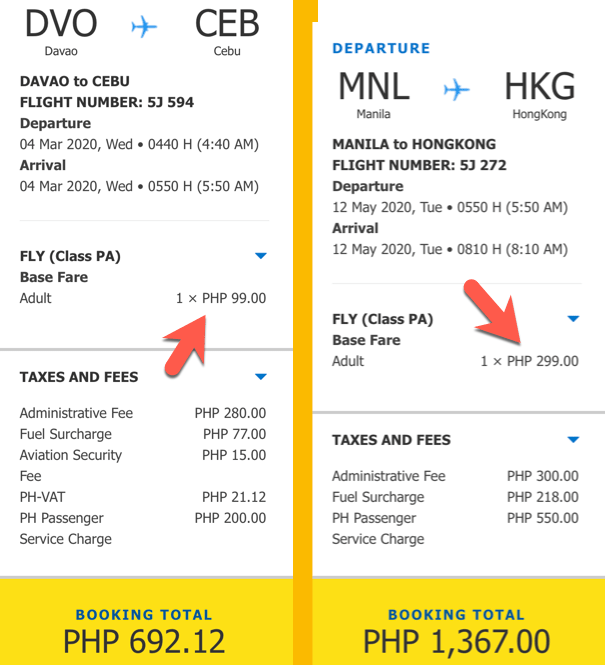 promo fare hong kong cebu