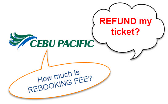 Rebook Refund Cebu Pacific