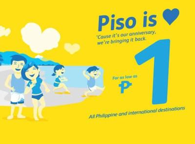 CEBU PACIFIC PISO FARE 2016 to 2017 Domestic and International Promo!
