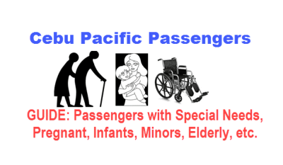 Special needs passenger rules Cebu Pacific