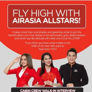 Air Asia Philippines' Cabin Crew Hiring and Walk In Interview