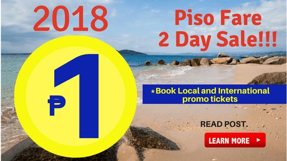 Cebu Pacific Piso Fare 2018 June July August September October