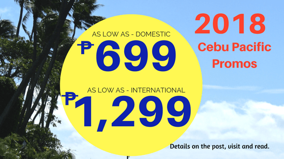 promos june to september 2018 cebu pacific air domestic international