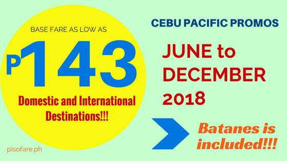 cebu pacific promo fare 143 pesos