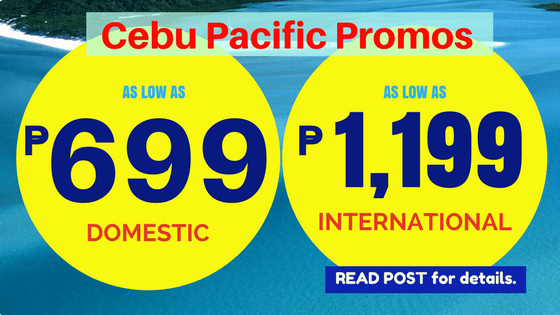 cebu pacific promo NOVEMBER 2018 to MARCH 2019
