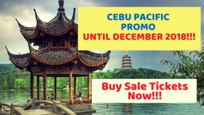 Cebu Pacific NEW PROMO for Flights Until December 31, 2018