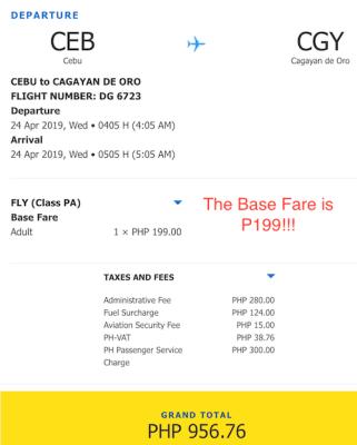 cebu to cagayan de oro promo fare for 2019