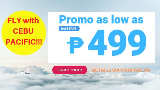 Cebu Pacific promo 499