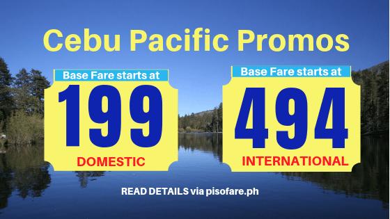 Cebu Pacific promo January 5 to 8