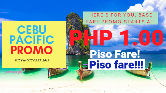 Cebu Pacific Promo piso fare P1 tickets 2019